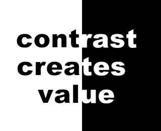 Contrast Creates Value Trimmed