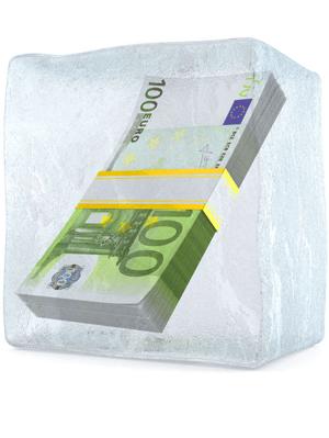 Frozen money trimmed
