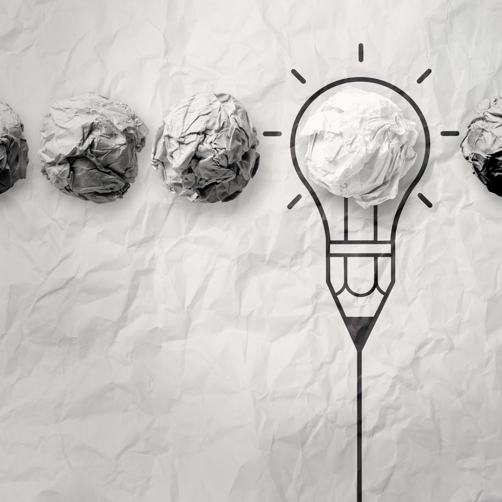 light bulb crumpled paper in pencil light bulb as creative concept.jpeg