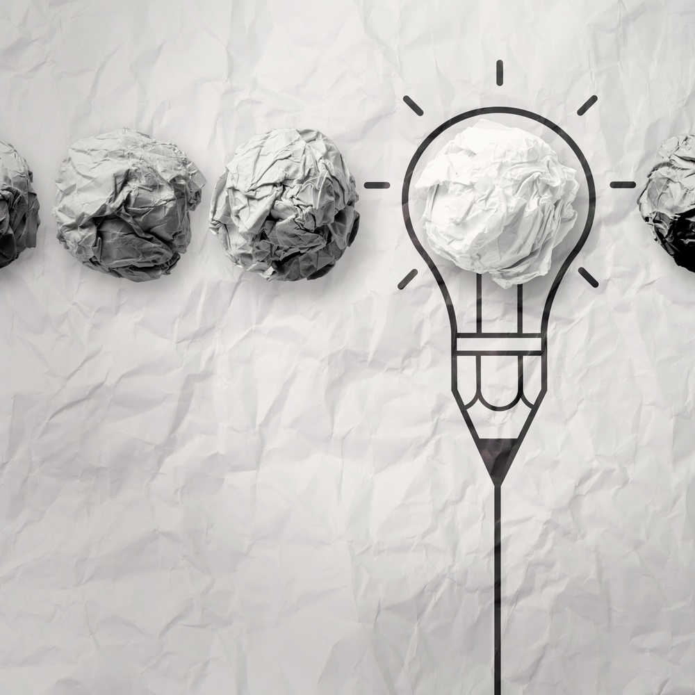 light bulb crumpled paper in pencil light bulb as creative concept.jpeg