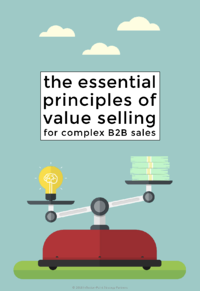 The essential principles of value selling cover