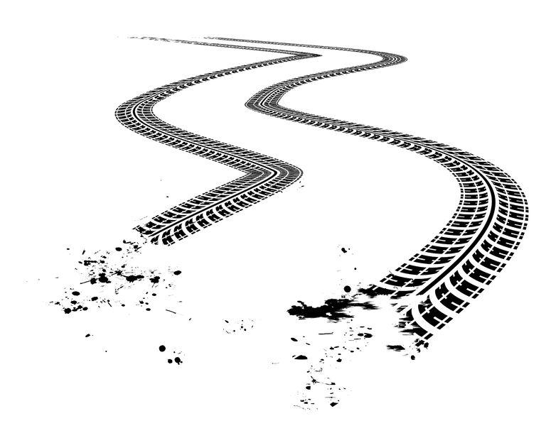 tire tracks clear BG