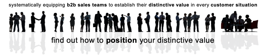 Value Selling - find out how to position your distinctive value